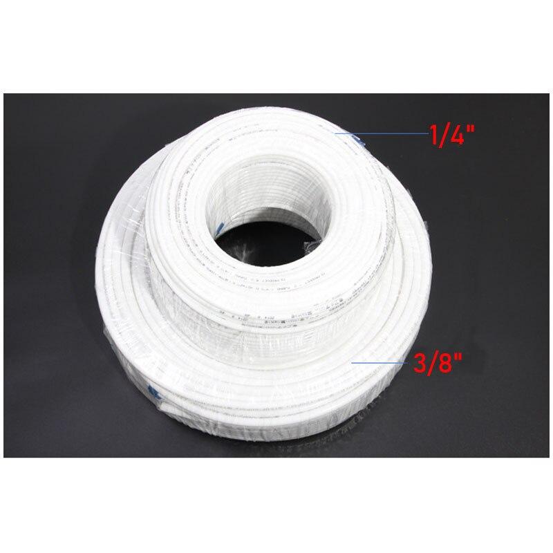 Белая гибкая трубка для аквариумных фильтров, 1 метр, RO Water, 1/4 дюйма, 3/8 дюйма, OD, PE