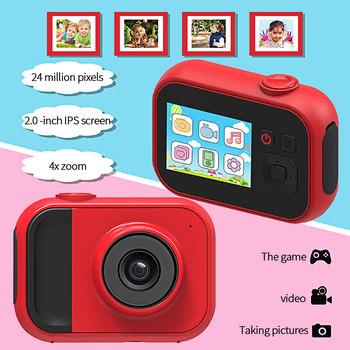 Aparat fotograficzny dla dzieci aparat cyfrowy 3 5 cala aparat fotograficzny dla dzieci zabawki prezent urodzinowy dla dzieci 28MP 1080P aparat fotograficzny dla dzieci tanie i dobre opinie powstro 2x-7x CN (pochodzenie) Brak Full hd (1920x1080) Na żywo mos 4 3 cali 15-45mm 20 1MP -- 24 0MP Children Camera Karta sd