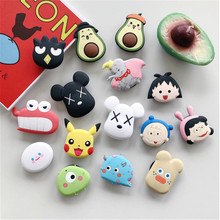 Cute Cartoon Round Universal Mobile Phone Ring Holder Airbag Gasbag fold Stand Bracket Mount For iPhone XR Samsung Huawei Xiaomi geometric pattern gasbag phone holder
