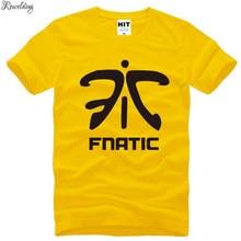 T-Shirt Men Game-Uniforms Fnatic-Team Short-Sleeve Cotton Summer LOL Print O-Neck Tee