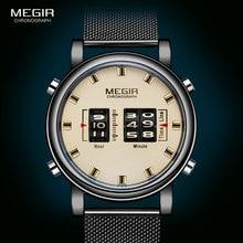 MEGIR 2020 New Luxury Watches Men Military Sport Roller Poin