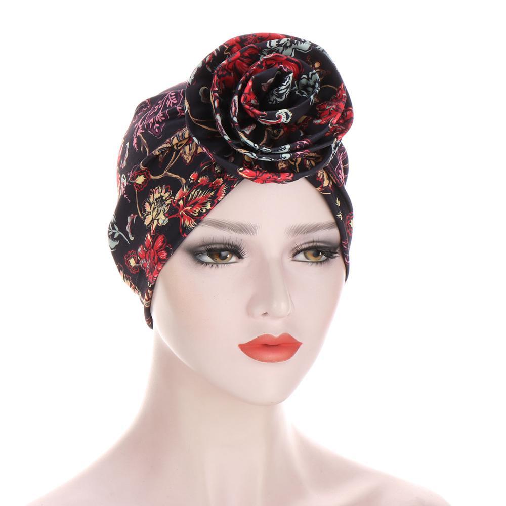 Купить новый цветочный тюрбан шляпы для женщин химиотерапия рак головные