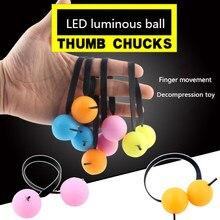 LED Finger Ball autyzm zabawka świecące tabeli gry stres relief obrotowy pierścień prezent na boże narodzenie yo-yo Toy Yoyo Factory Professional