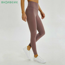 SHINBENE Anti sweat Mention Hip Sport Gym Leggings Women High Waisted Yoga Fitness Pants Seamless Dance Workout Leggings XS XL