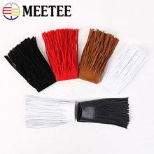 Meetee 2 metro 15cm couro camurça borla laço engrossar fita para bolsa bagagem acessórios de roupas manual diy decoração tf207