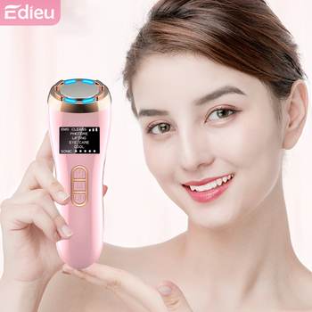 Edieu 7In1 RF EMS Mesotherapy Electroporation Radio Frequency Lifting Skin Rejuvenation Wrinkle Removal LED Photon Massager rf radio frequency led photon facial mesotherapy electroporation face lifting tighten wrinkle removal skin care face massager