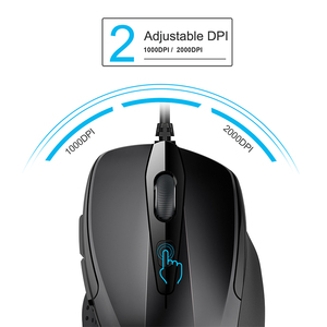 Image 2 - TeckNet Mouse Pro S2 High Performance Wired Mouse 6 Buttons 2000DPI Gamer Computer Mouse Ergonomic Mice with Cable Desktop