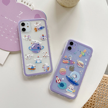 Cute Cinnamon dog Phone Case For Iphone11case Starry sky Transparent backcover For iphone11pro max 7 8 Plus X Xs Xr Max funda