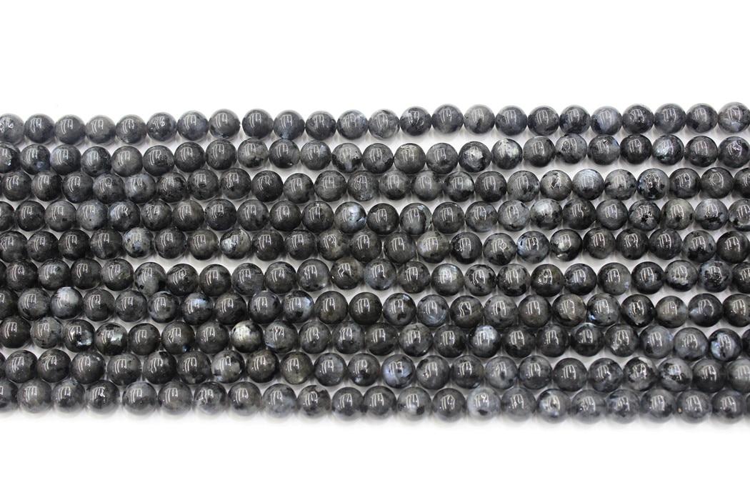 Natural labradorite preto labradorite redonda solta grânulos strand 4/6/8/10/12/14mm para jóias diy fazer colar pulseira
