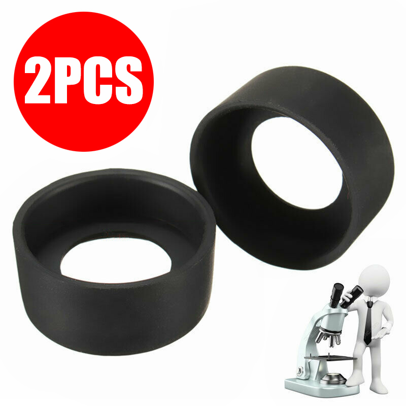 2pcs Rubber Flat Angle Eye Cover 36mm Binocular Eyepiece Caps For 36-38mm Microscopes Telescopes Lab Supplies