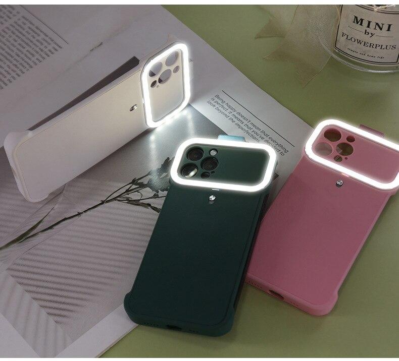 8 6 plus selfie lanterna capa para