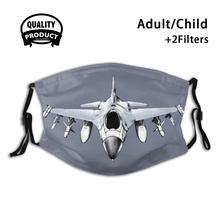 F - 16 файтинг Сокол маска для лица моющиеся фильтры летние горячие продажи маски F 16 F16 Jet самолет военные ВВС Америка