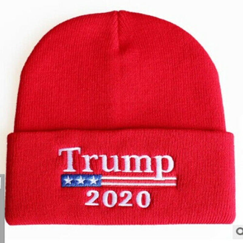 Trump 2020 Keep America Great 1 Wool Knitted Hat Beanie Caps Unisex Slouchy