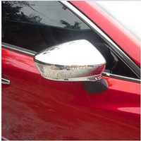 Side Door Wing Mirror Cover Rear View Mirrors Protector Trim For Mazda 3 M3 2014 2015 2016 ABS Chrome Car Covers Accessories