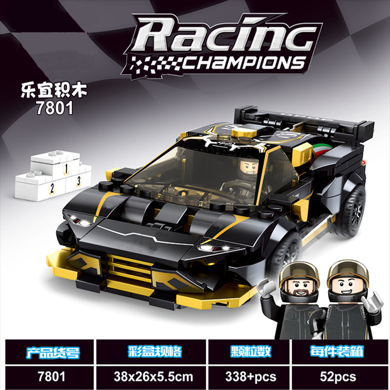 Brick Compatible Construction-Toy-Sets Building-Block Champion Race-Car Legoed-Speed title=