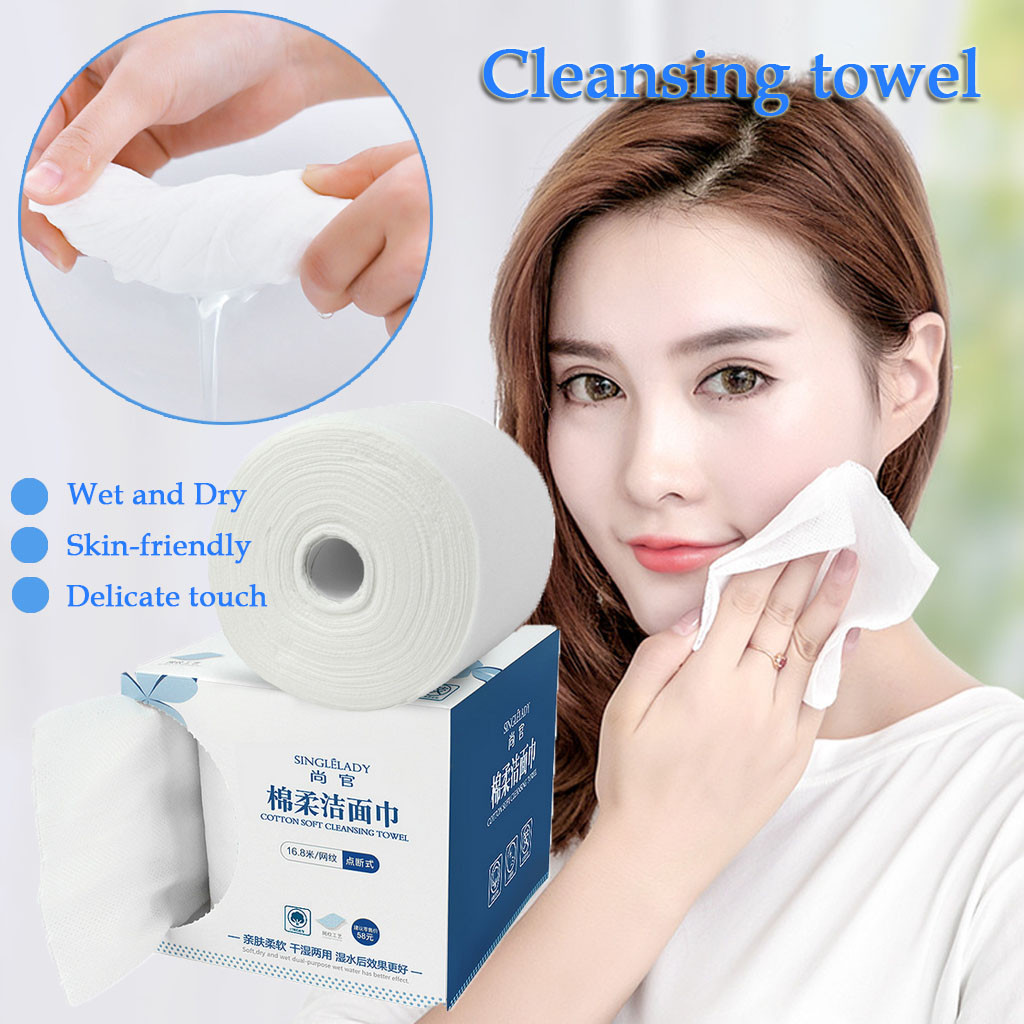 Travel Cotton Disposable Wash Towel Soft Clean Beauty Towel Uncompressed Wet And Dry Towel Cleaning Toilet Tissue New Arrival