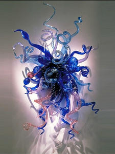Wall-Lamp Glass Home-Lighting Bathroom Light-Fixture Luminaire Modern Blue 3W Led Ce
