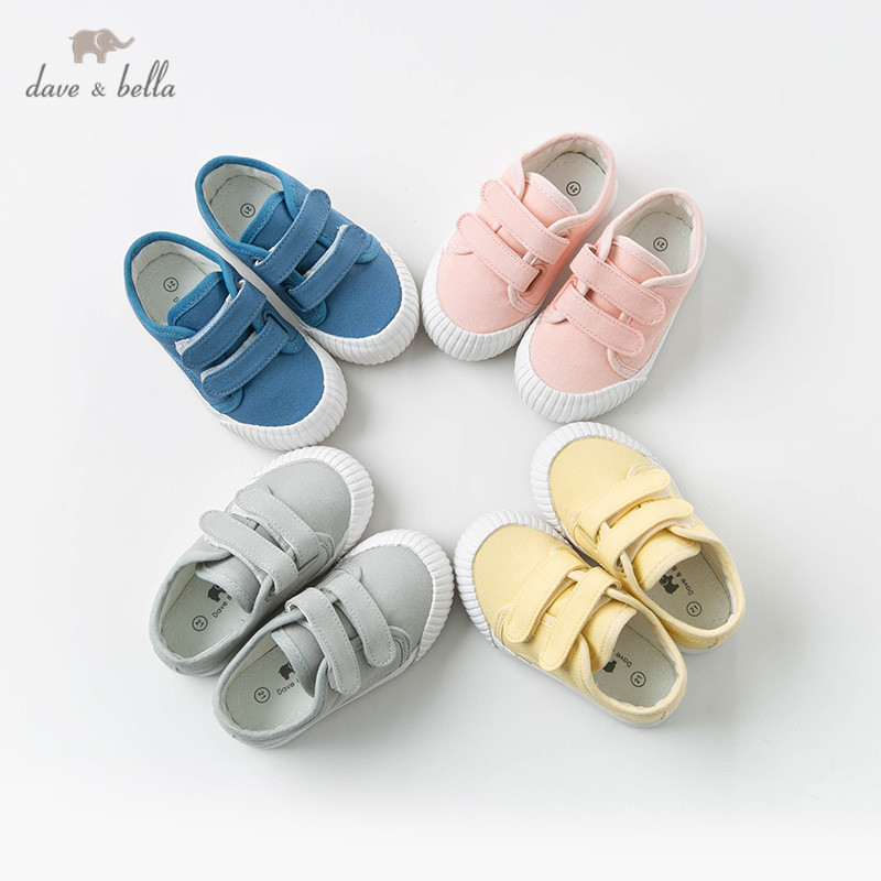 DBX12872 Dave Bella Unisex Baby Spring Canvas Shoes New Born Girl Baby Boy Casual Solid Shoes