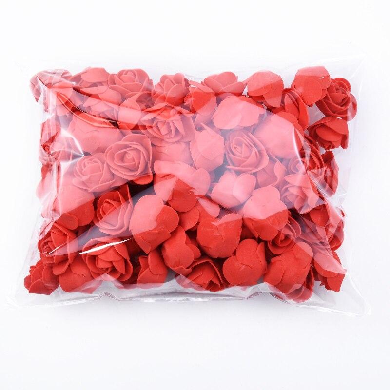 100 Uds osito de peluche para una boda de rosas diy regalo San Valentín regalo flores artificiales Año Nuevo Navidad decoración para el hogar|Flores artificiales y secas|   - AliExpress