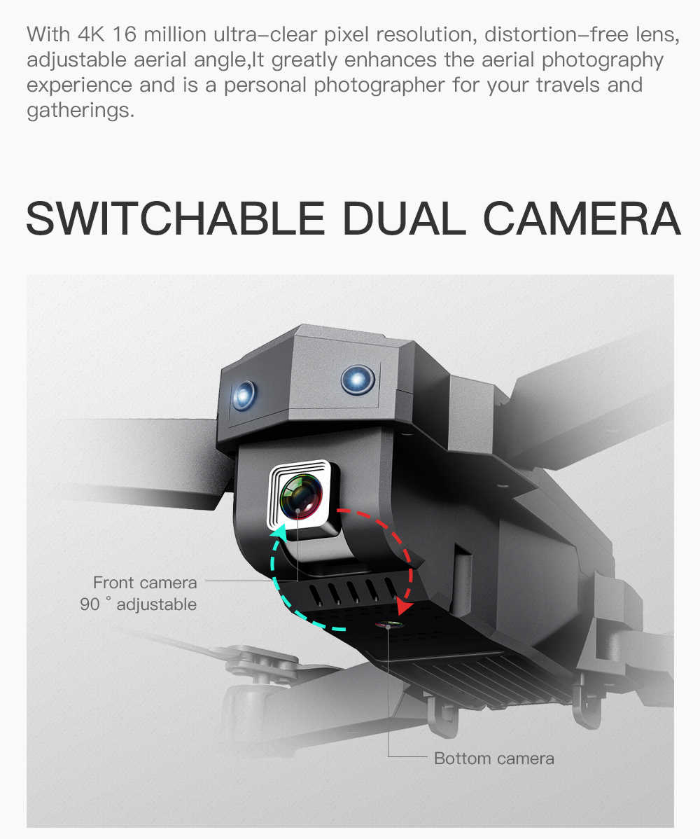 SG107 składany Dron z 4K kamera hd WIFI FPV 2.4GHZ Quadcopter drony kontrola gestów Rc Dron zabawki dla dzieci VS E58 E68 SG106