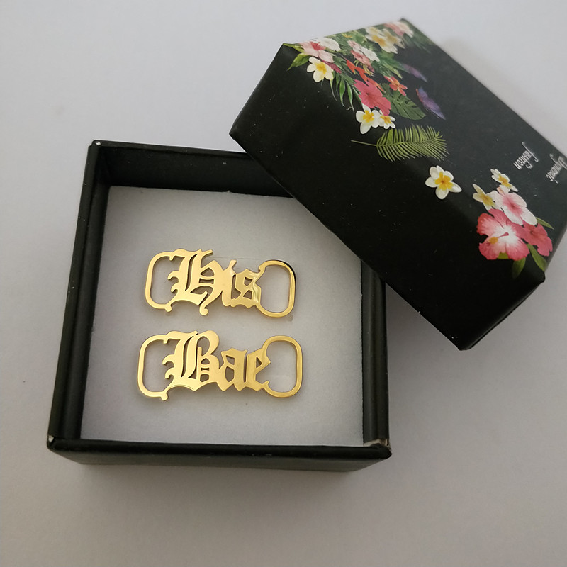 Any Letter Shoe Fastener Custom Jewelry Stainless Steel Buckie Fashion Personalized Name Shoe-buckle Stainless Steel Accessories