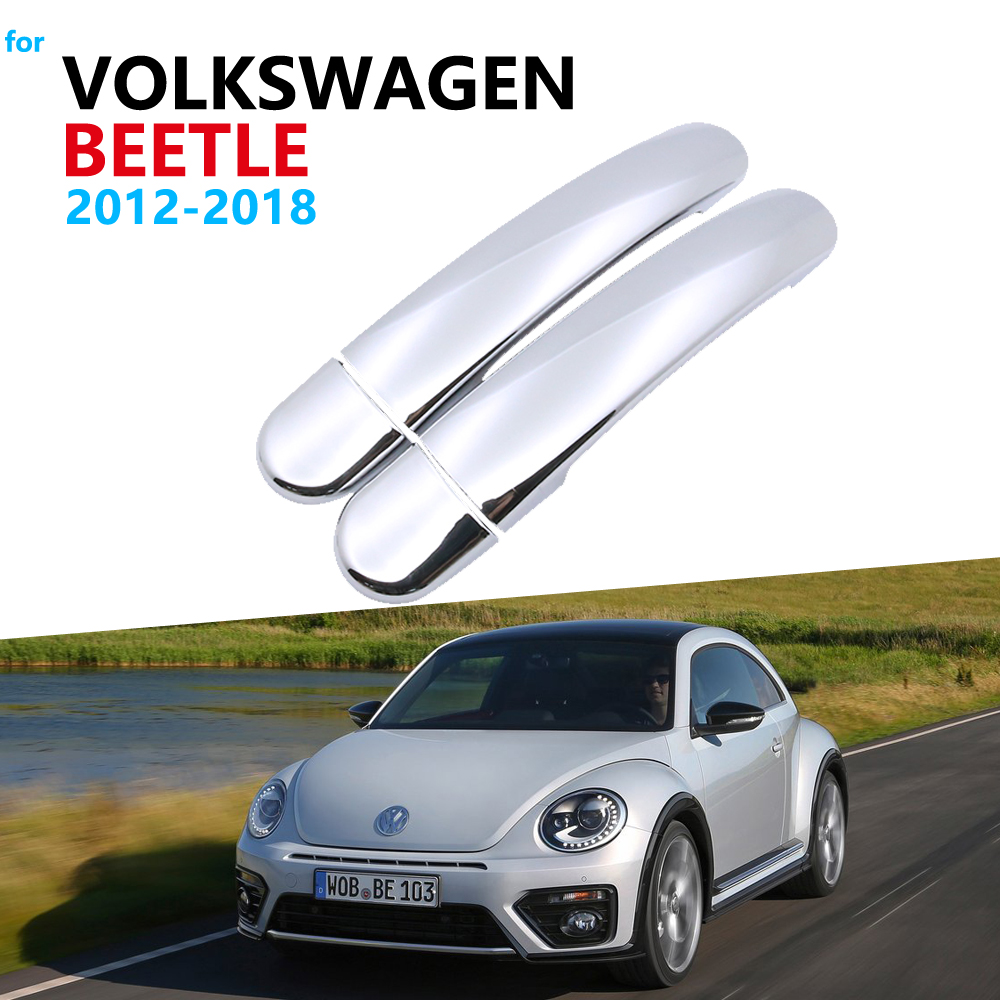 Acessórios para carro, acessórios para porta volkswagen vw beetle novo beetle 2012 ~ 2018, cromado, guarnição, adesivos para carro 2016 2017