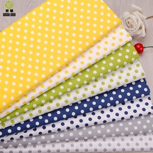 Shuanshuo Dot Style Cotton Quilting Fabric  Cloth Of Handmade DIY Sewing Baby&Children Sheets Dress 40*50cm 8pcs/lot