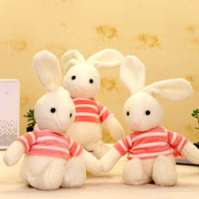 pink Striped clothes Cute Rabbit Soft Plush Toys Stuffed Animals Long Ear Rabbit Plush Doll Toys Baby Kids Girls Birthday Gifts fancytrader large plush bunny doll lovely soft stuffed cartoon rabbit kids toys gifts pink purple for chilren 100cm