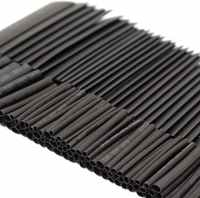 127PCS Heat Shrink Sleeving Tubing Assortment Electrical Connection Electrical Wire Wrap Cable Waterproof Shrinkage 2:1 Black