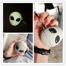 3D Earphone Case For Airpods Case Silicone Luminous Cartoon Cute Headphone Covers For Air Pods Case