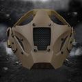 Jacht Bescherming Masker Half Gezicht Ademend Militaire Tactische Masker Jacht Airsoft Paintball CS Game Masker voor Helm Connector
