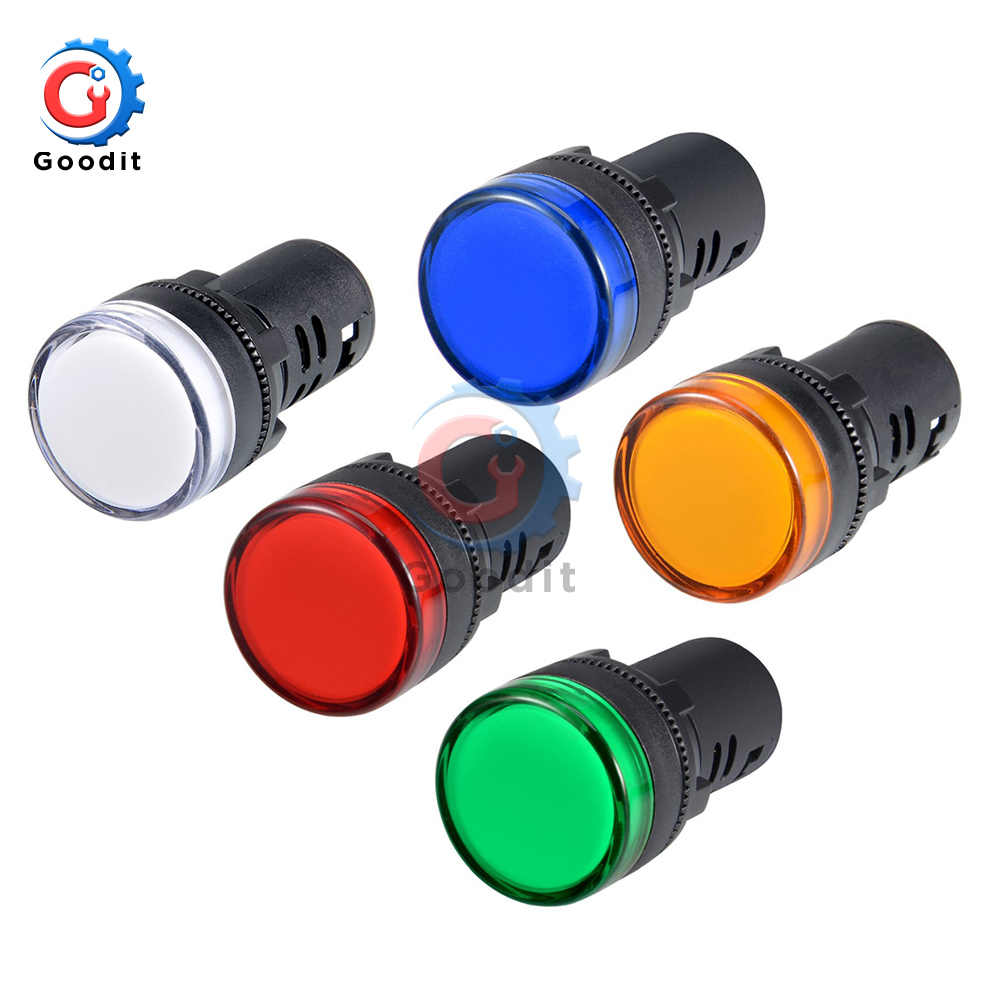 AD16-22DS Panel Mount Signal Power Led Indicator Light Pilot Signal Lamp Flash Buzzer AC 220V 380V 22mm Flash Alarm Indicator