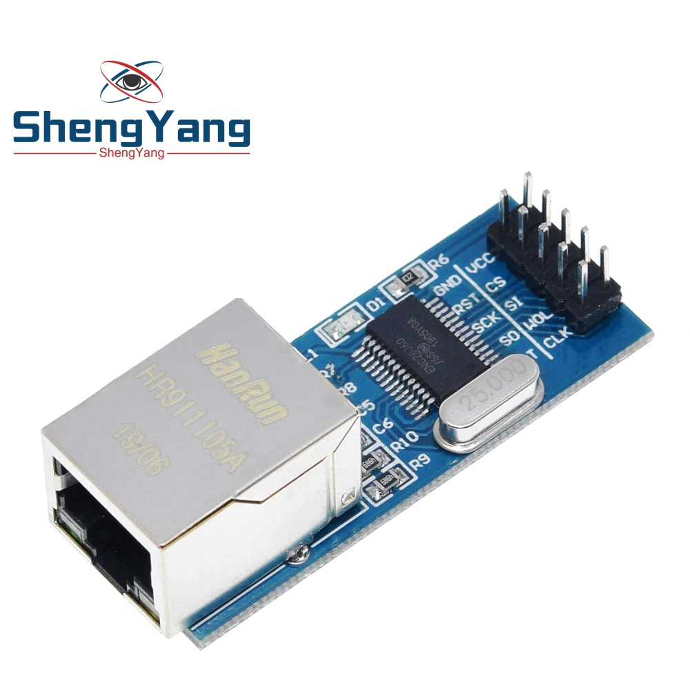 ShengYang Mini ENC28J60 Ethernet LAN сетевой модуль для Arduino 51 AVR SPI PIC STM32 LPC оптовая продажа