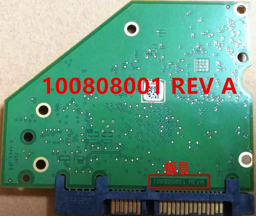 Hard Drive Parts PCB Logic Board Printed Circuit Board 100808001 REV A For Seagate 3.5 SATA Hdd Data Recovery Repair 1T 2T 3T