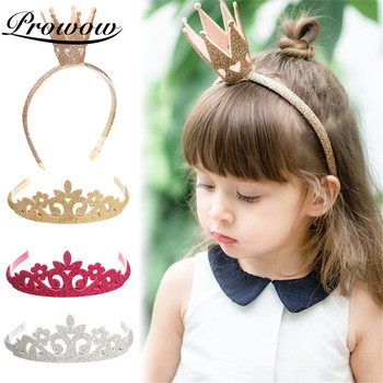 Prowow Princess Child Crown Headband Nylon For Baby Hair Strap Accessories Birthday Party Band