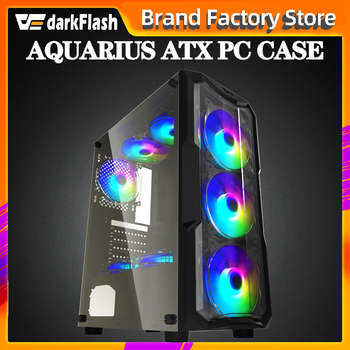 Aigo darkflash ATX/M-ATX/ITX desktop computer case DIY Dustproof mute gaming Acrylic gabinete pc case gamer Mid Tower Chassis 1
