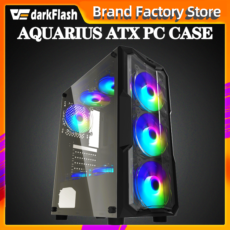 Aigo darkflash atx/M-ATX/itx desktop computador caso diy dustproof mudo gaming acrílico gabinete pc caso gamer mid tower chassis