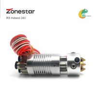 ZONESTAR Triple-Extruder Three Color Hotend 3-IN-1-OUT 3-IN-2-OUT 3-IN-3-OUT Nozzle 0.4mm 3D Printer Parts Filament 1.75mm