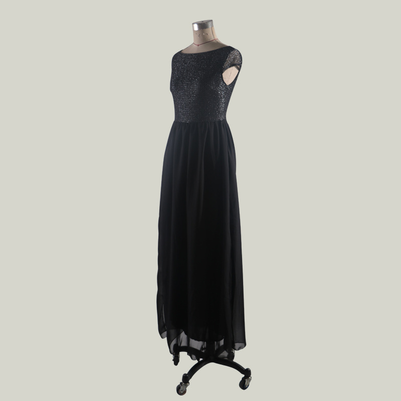 spring dress 2019 bohemian maxi dinner dresses for women party night glitter black robe vintage luxury formal clothing elegant in Dresses from Women 39 s Clothing