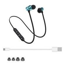 10 шт. в партии BT400 магнитные беспроводные Bluetooth наушники гарнитура телефон шейным ремешком спортивные наушники с микрофоном для телефона