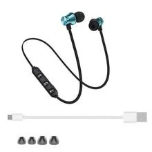 10 pçs por lotes bt400 magnético sem fio bluetooth fone de ouvido fone telefone neckband esporte fones com microfone para telefone