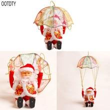 Cute New Christmas Decorations Children Electric Parachute Santa Claus Toy