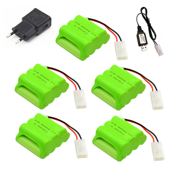 Upgrade 5pcs 8.4V 3000mah AA nimh rechargeable battery for RC car boat guns lighting remote control electric Tamiya Kep-2p Plug image