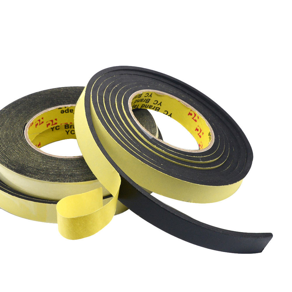 5M Foam Sponge Rubber Strip Tape 3mm Thickines Single Sided Adhesive Waterproof Weather Stripping Window Door Seal Strip