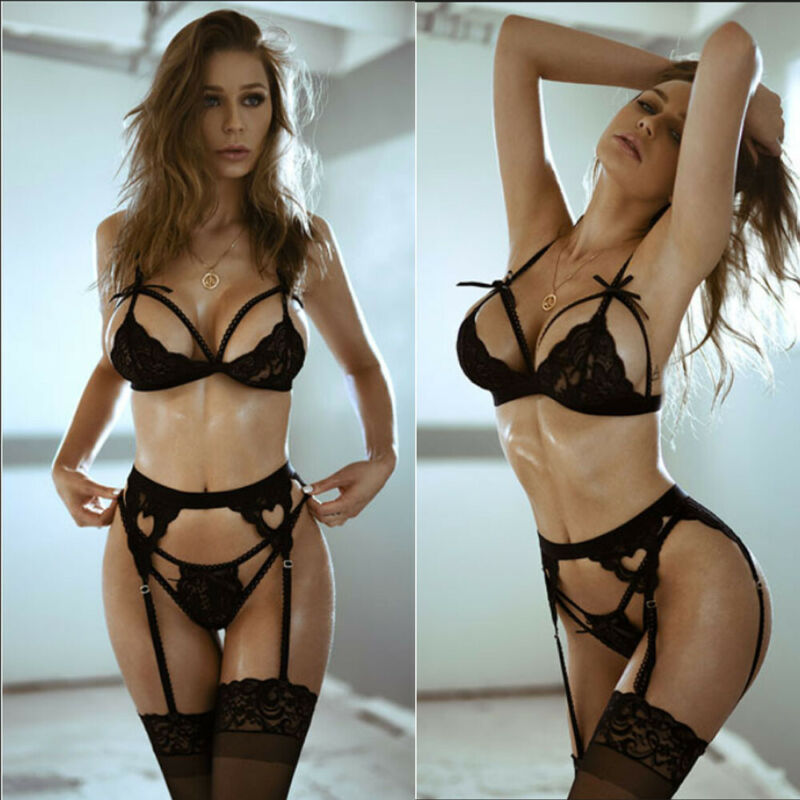 Dropshipping Women Sexy Lingerie Set 3pcs Babydoll G-String Thong Underwear Nightwear Erotic Lingerie Women Nightwear Costumes