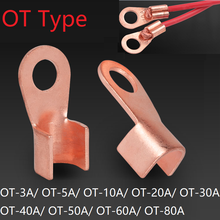 Ot Type 3A 5A 10A 20A 30A 40A 50A 60A 80A Wire Terminal Rood Koper Blote Neus Lugs Crimp Open mond Kabel End Connector Splice(China)