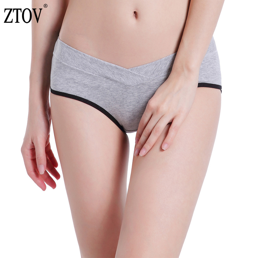 ZTOV 1 Pcs Cotton Maternity Underwear Panties For Pregnant Women Pregnancy Clothes U-shaped Low Waist Briefs Intimates Panties