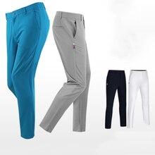 Новые Брюки для гольфа Мужские штаны с эластичной резинкой на талии Slim Fit PGM Одежда Для Гольфа Шорты для улицы и занятий спортом