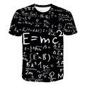 Engraçado física fórmula matemática t camisa 3d impressão o-pescoço camisetas masculinas 3d solto marca streetwear geek camisas