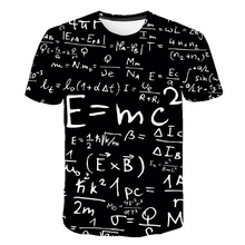 Funny Physics Formula Math T shirt 3D Print O-neck Men's T-shirts 3D Loose Brand Streetwear Geek Tee shirts Men